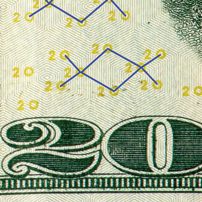 example shows eurion constellation pattern causes a copy to print black